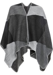 Geruite poncho, bpc bonprix collection