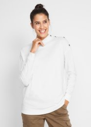 Boxy shirt met turtleneck en knopen, bpc bonprix collection