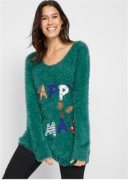 Fluffy kersttrui, bpc bonprix collection