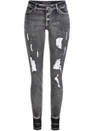 Skinny jeans met destroyed details, RAINBOW
