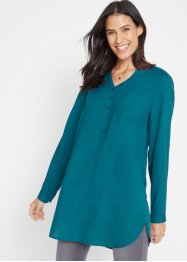 Lange blouse met Henley kraag, bpc bonprix collection