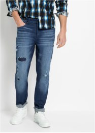 Slim fit stretch jeans, straight, RAINBOW