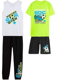 Tanktop, shirt, bermuda en sweatpants (4-dlg. set), bpc bonprix collection