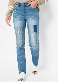 Skinny jeans met patches, RAINBOW