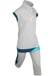 Longshirt en capri (2-dlg. set), korte mouw, bpc bonprix collection
