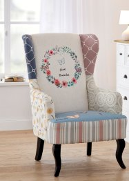 Oorfauteuil met speelse print, bpc living bonprix collection