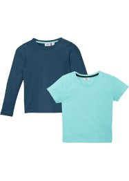 T-shirt en longsleeve (2-dlg. set), extra wijd, bpc bonprix collection