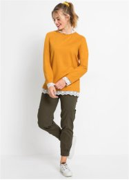 Oversized sweater met kant, RAINBOW