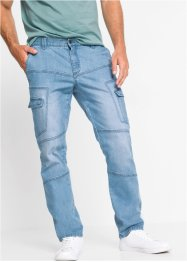 Regular fit cargo stretch jeans, straight, John Baner JEANSWEAR