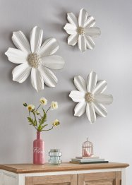 Wanddecoratie bloemen (3-dlg. set), bpc living bonprix collection