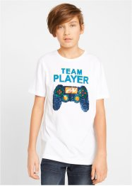 T-shirt met omkeerbare pailletten, bpc bonprix collection