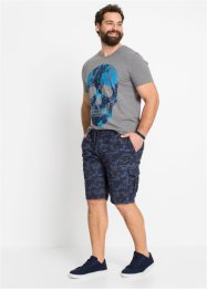Cargo bermuda met geribde band, loose fit, RAINBOW