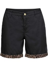Chino short met satijn, BODYFLIRT boutique