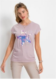 T-shirt met pailletten, RAINBOW