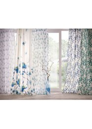 Transparant gordijn met bloemenprint (1 stuk), bpc living bonprix collection