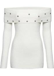 Off shoulder trui met studs, BODYFLIRT boutique