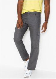 Linnen cargobroek met turn-ups, regular fit, bpc bonprix collection
