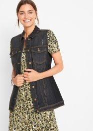 Jeans gilet met geribde inzetten, bpc bonprix collection