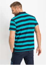 Gestreept poloshirt, korte mouw, bpc bonprix collection