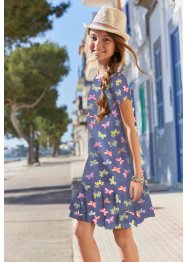 Jersey jurk met volants, bpc bonprix collection