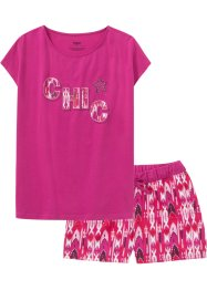 Shortama met glittersteentjes (2-dlg. set), bpc bonprix collection