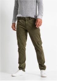 Slim fit stretch cargo broek, straight, RAINBOW