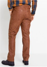 Regular fit imitatieleren broek, straight, John Baner JEANSWEAR