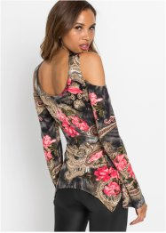 Cold shoulder shirt met kant, BODYFLIRT boutique