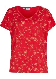 Shirt met V-hals en print, bpc bonprix collection