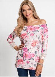 Carmen-shirt met kant, BODYFLIRT boutique