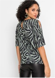 Gedessineerd shirt met knoopdetail, BODYFLIRT