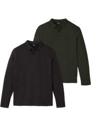 Poloshirt, lange mouw (set van 2), bpc bonprix collection