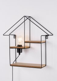 Lamp huis met 2 planken, bpc living bonprix collection
