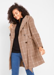 Korte coat met ruiten, bpc bonprix collection