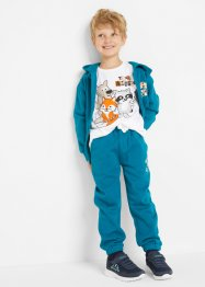 Sweatvest, shirt en broek (3-dlg. set), bpc bonprix collection