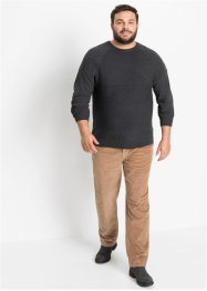 Classic fit stretch corduroy broek, tapered, John Baner JEANSWEAR