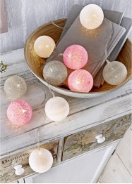 LED lichtslinger met pastelkleurige bollen, bpc living bonprix collection
