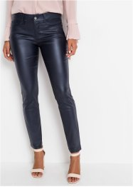 Stretch broek met coating, BODYFLIRT