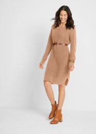 Oversized, ribgebreide jurk met split, bpc bonprix collection