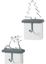 Haak (set van 2) rendier en dennenboom, bpc living bonprix collection