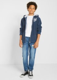 Sweatvest met capuchon en teddy fleece, bpc bonprix collection