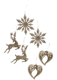 Hangdecoratie Kerst (set van 6), bpc living bonprix collection