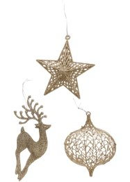 Hangdecoratie Kerst (set van 3), bpc living bonprix collection