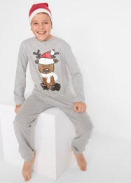 Pyjama onesie met kerstprint en puntmuts (2-dlg. set), bpc bonprix collection