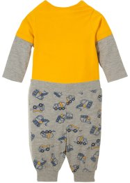 Body romper met lange mouwen en shirtbroek (2-dlg. set) biologisch katoen, bpc bonprix collection