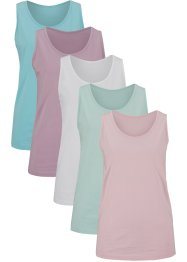 Katoenen longtop (set van 5), bpc bonprix collection