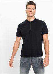 Stretch piqué poloshirt met ritssluiting, slim fit, RAINBOW