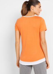 Sportshirt in layerlook, korte mouw, bpc bonprix collection