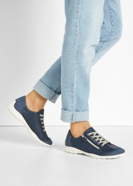 Comfortabele sneakers van leer in H-wijdte, bpc selection