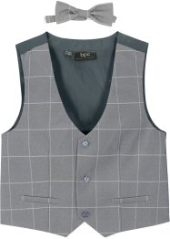 Gilet en vlinderstrik (2-dlg. set), bpc bonprix collection